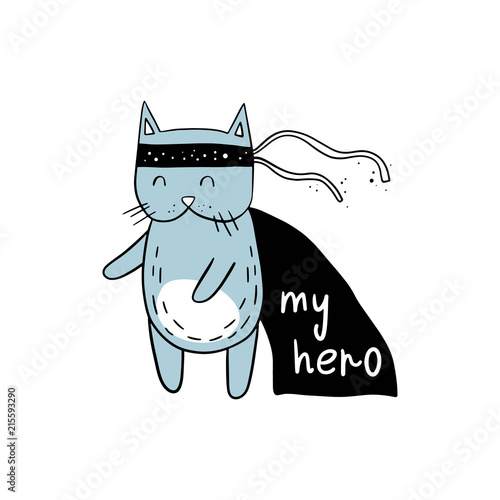 Tela  Vector illustration of a super cat