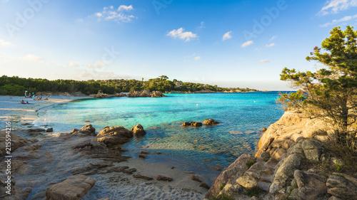 Photo  Spiaggia Capriccioli, beach of Emerald coast, east Sardinia island, Italy