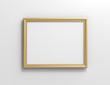 Matte gold color photo frame