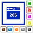 Browser 206 Partial Content flat framed icons