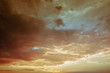 canvas print picture - Cloudy Sunset