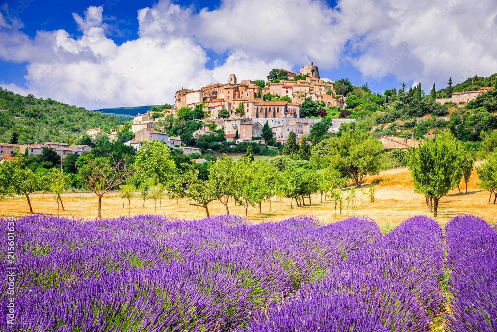 Fototapety, obrazy: Simiane-la-Rotonde, Provence in France