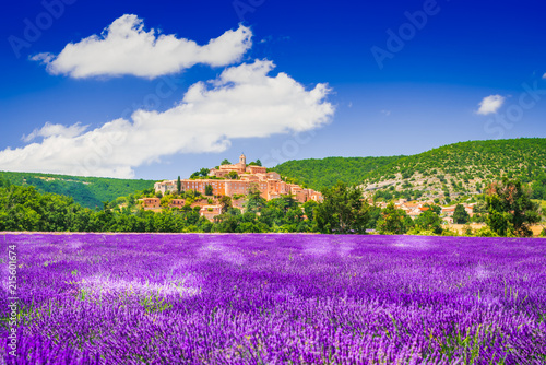 Banon hilltop village in Provence, France Wallpaper Mural