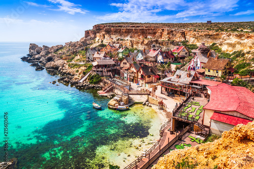 Obraz Malta, Il-Mellieha - Popeye village - fototapety do salonu