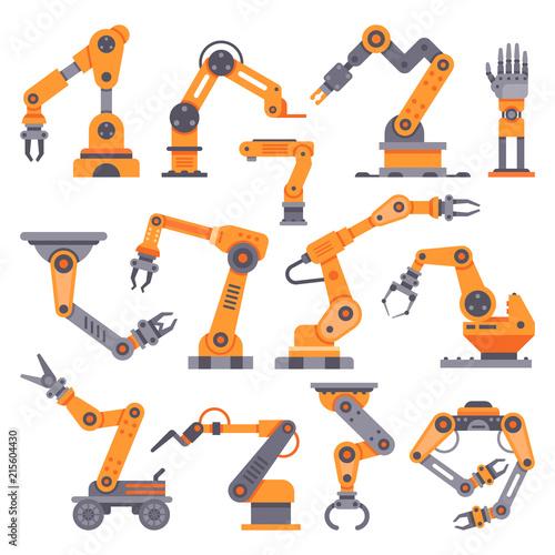 Flat manufacture robotic arm Canvas Print