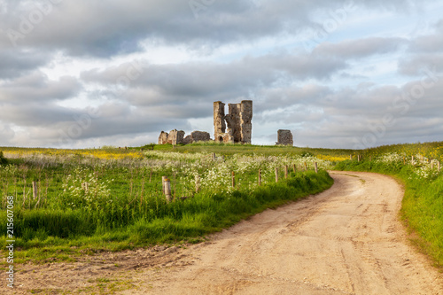 Foto op Aluminium Rudnes Winding road leading to a chirch ruin in Norfolk