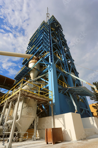 Gas suspension calciner for production of alumina Canvas Print