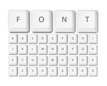 Keyboard Buttons Font Alphabet Vector