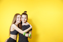 Portrait Of Two Fitness Female...