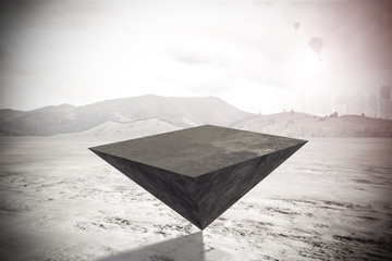 Pyramid on outdoor background
