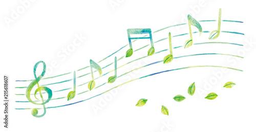 Fototapeta 音符のイラスト obraz
