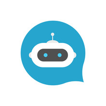 Chat Bot Icon Sign