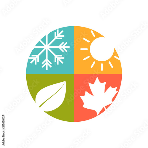 Obraz na plátne 4 seasons icons set