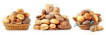 Fresh Bread And Buns Set.