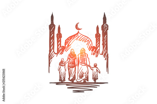 Photo  Religion, family, muslim, arabic, islam, mosque concept