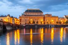 Prague National Theatre By Nig...