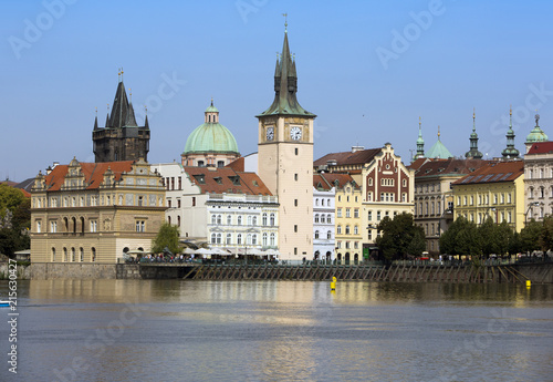 Staande foto Praag Prague - the old city and Vltava Embankment, the Czech Republic..