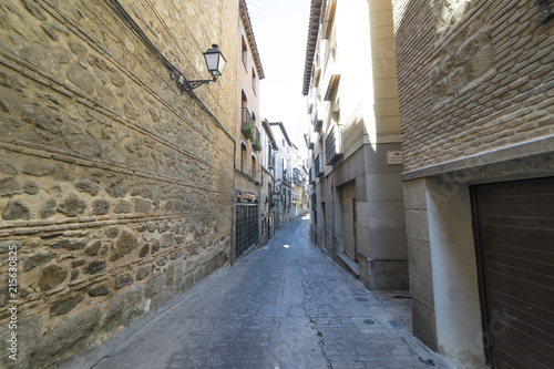 medieval street in the Spanish town Toledo ( UNESCO World heritage Site)