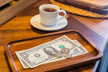 Dollar Banknotes And Coins, .money Tips.
