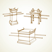 Altar. Vector Drawing