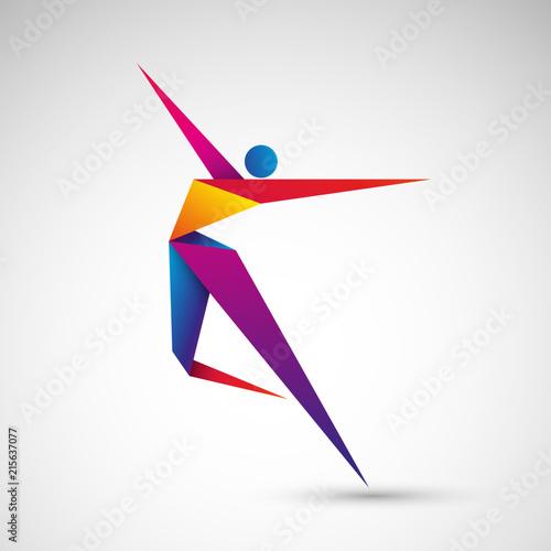 Fototapeta taniec origami wektor obraz