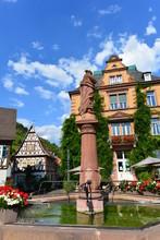 Maktplatz In Der Altstadt Von Heppenheim