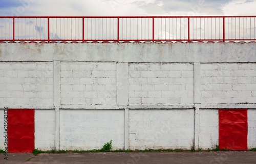 Deurstickers Stadion Football Stadium Exterior