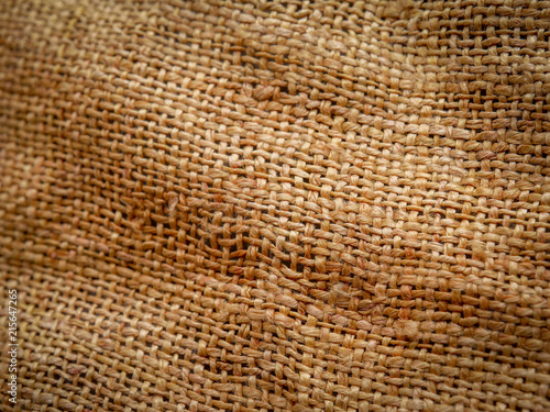Fotobehang Stof Close Up of brown sackcloth texture background. soft focus