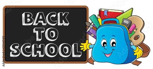 Foto op Plexiglas Voor kinderen Back to school design 1