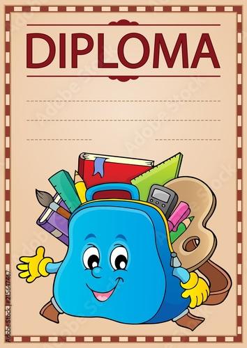 Foto op Plexiglas Voor kinderen Diploma design image 3