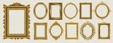 Zestaw zaproszenia złoty i zielony projekt ramki królewskiej fotografii