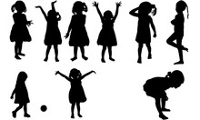 Toddler Girl Silhouette | Happ...