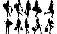 Woman Shopping Silhouette |Wom...