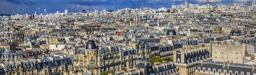 Poster Paris Paris aerial view before the storm. France.