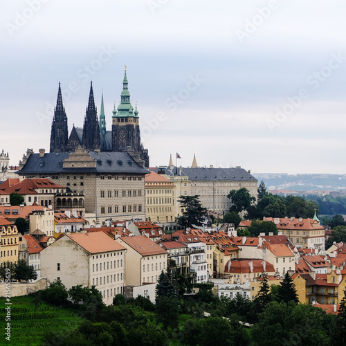 View of Prague Castle and St. Vitus Cathedral, Prague Poster