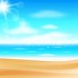 Sea panorama. Beautiful summer beach background