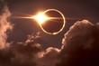 Leinwandbild Motiv Total eclipse of the Sun. The moon covers the sun in a solar eclipse