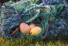 Colorful Fishing Nets With Ele...
