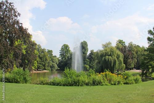 Lac du parc de l'Orangerie à Strasbourg Alsace France #215665679