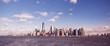 Panorama of New York City with Manhattan Skyline over Hudson River - USA