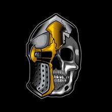 Knight Skull Head Broke Helmet