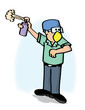 Trabajador aseo limpieza