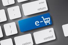 E-shop Icon Vector. Button Key...