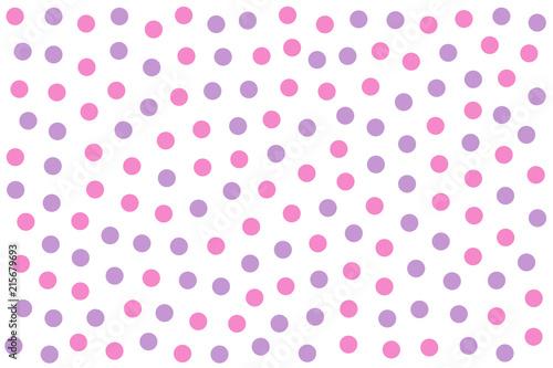 Fototapety różowe rozowe-kropki