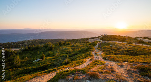 Foto op Canvas Beige Norway Hafjelltoppen at sundown