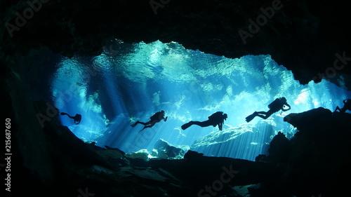 Fototapeta Diving in cenote obraz