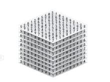 Mathematics Tensor Or Multidimensional Dataset Array 3d Illustration. Big Data Using In Deep Learning Technology