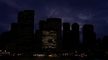 Big City Skyscrapers Power Outage-Blackout