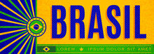 Brasil Patriotic Banner Vintage Design, Typographic Vector Illustration, Brazilian Flag Colors