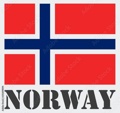Photo  symbol, norway with flag